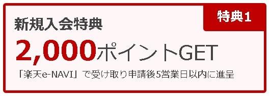 楽天カード新規入会2000ポイント