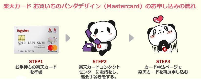 楽天カードのパンダデザインに切り替える3ステップ